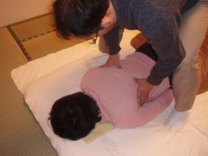 胸椎の調整