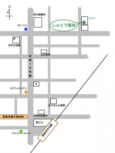 大阪府茨木市しゅとう整体の地図